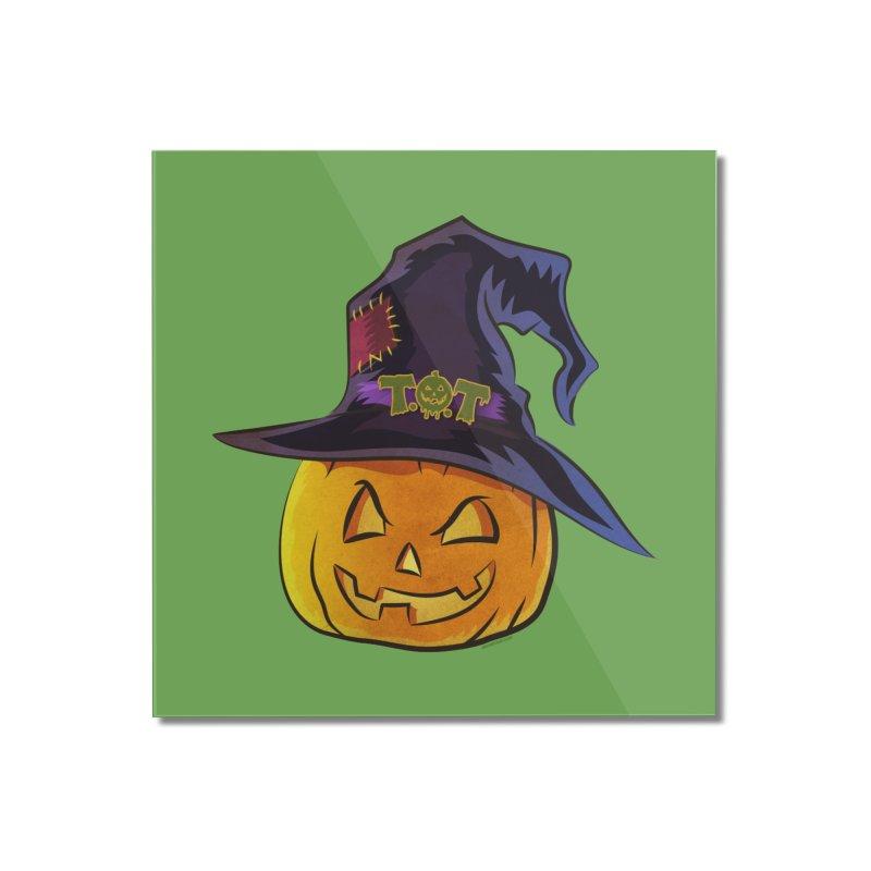 Trick Or Treat Pumpkin Home Mounted Acrylic Print by Zerostreet's Artist Shop
