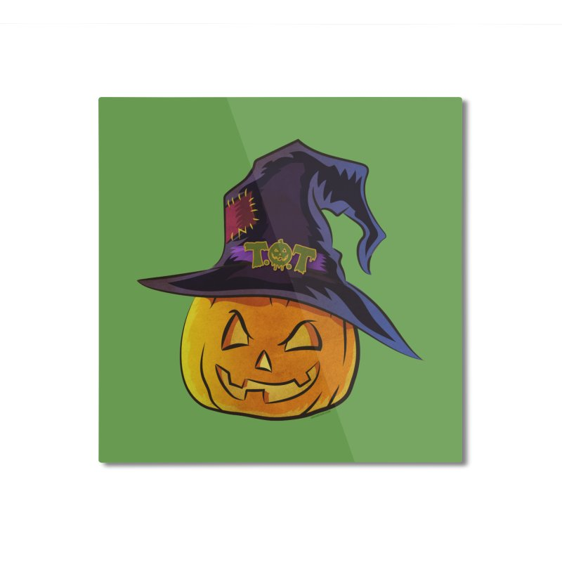 Trick Or Treat Pumpkin Home Mounted Aluminum Print by Zerostreet's Artist Shop