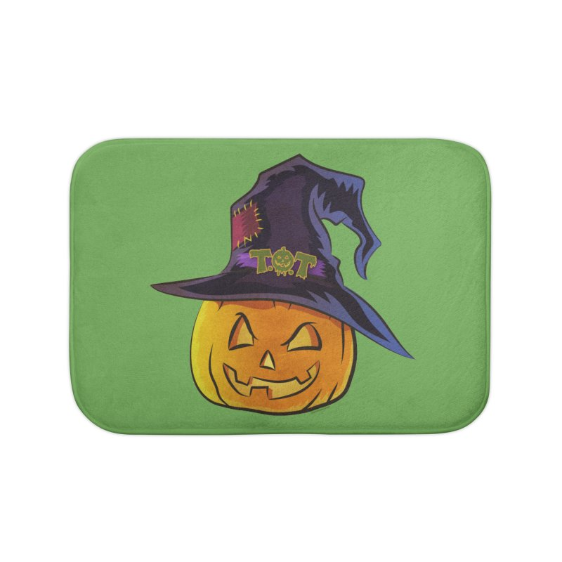 Trick Or Treat Pumpkin Home Bath Mat by Zerostreet's Artist Shop
