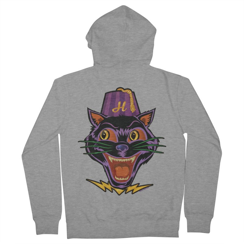 Chester The Cat Men's French Terry Zip-Up Hoody by Zerostreet's Artist Shop