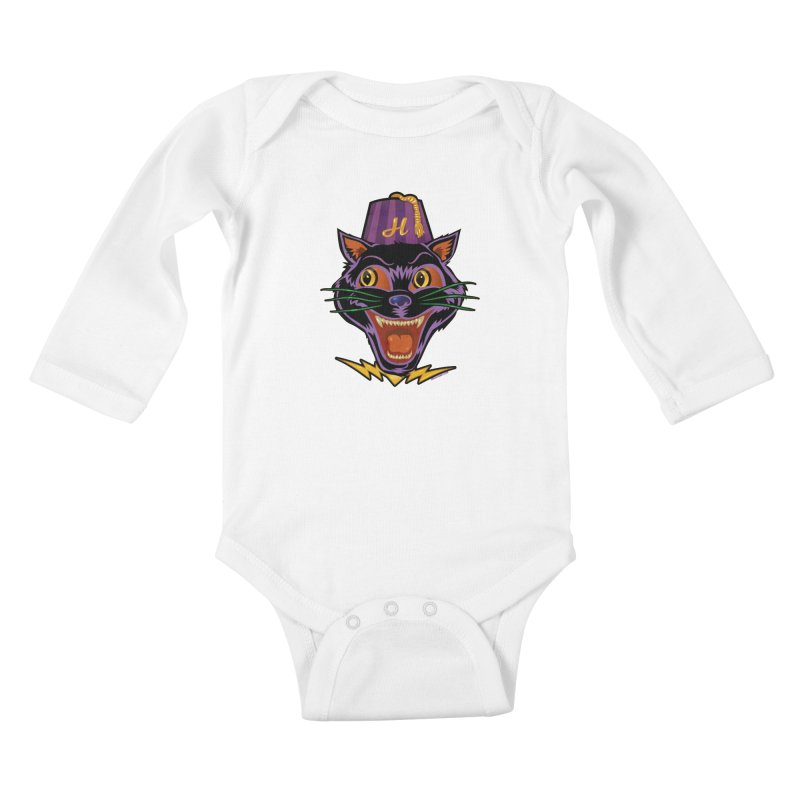 Chester The Cat Kids Baby Longsleeve Bodysuit by Zerostreet's Artist Shop