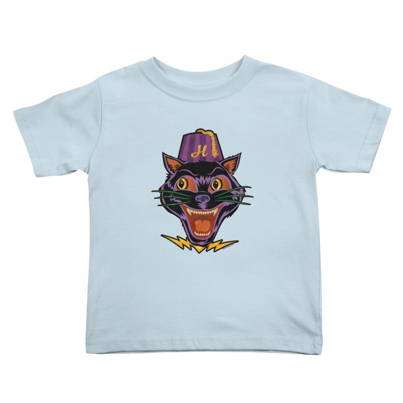 Chester The Cat Kids Toddler T-Shirt by Zerostreet's Artist Shop