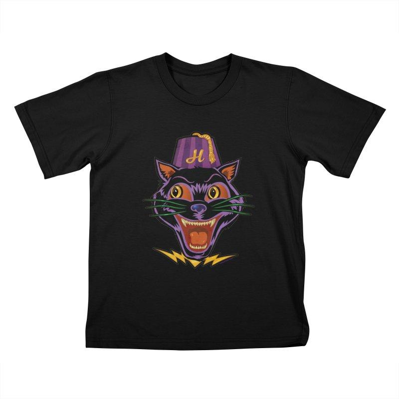 Chester The Cat Kids T-Shirt by Zerostreet's Artist Shop
