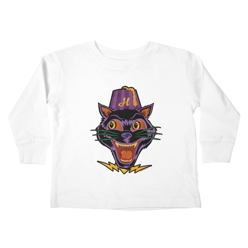 Chester The Cat Kids Toddler Longsleeve T-Shirt by Zerostreet's Artist Shop