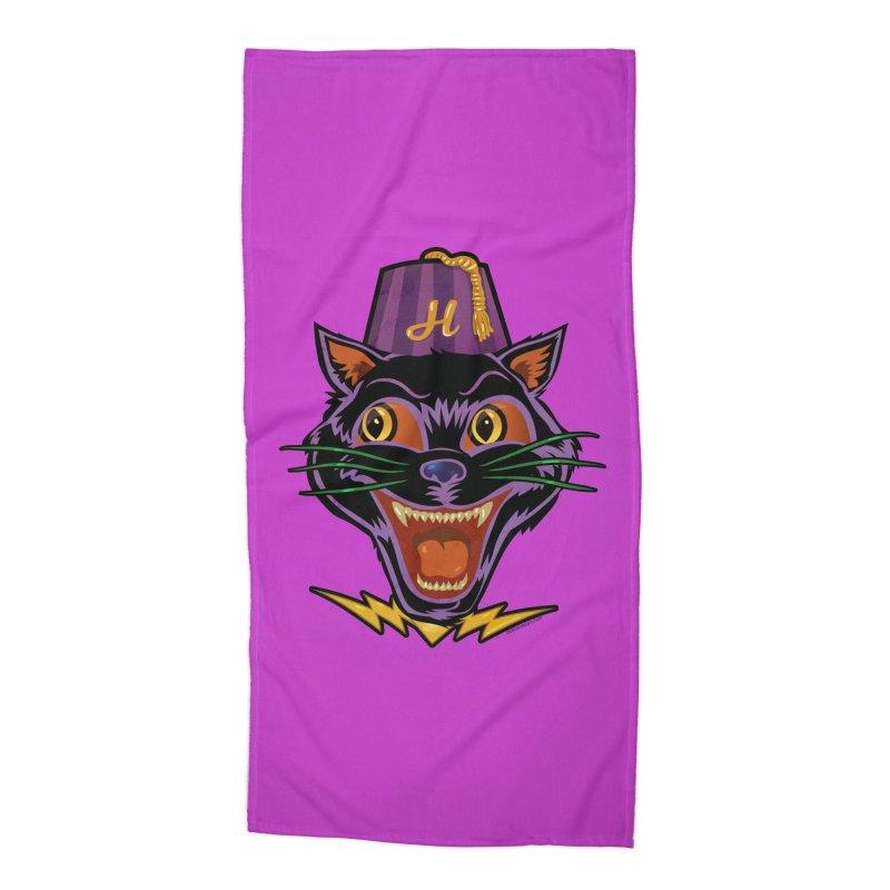 Chester The Cat Accessories Beach Towel by Zerostreet's Artist Shop