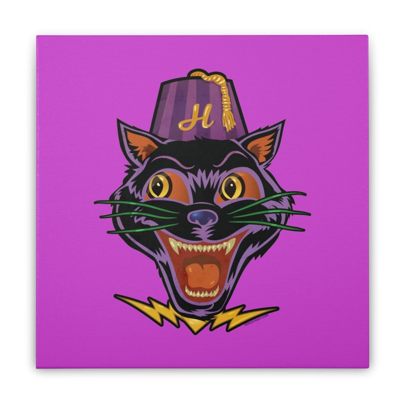Chester The Cat Home Stretched Canvas by Zerostreet's Artist Shop