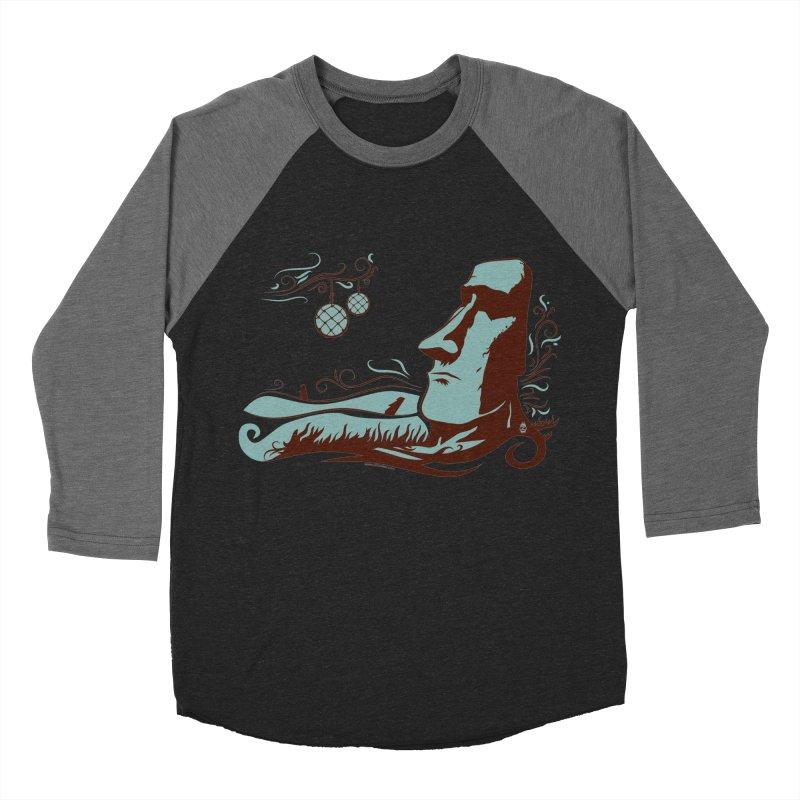 Moai Women's Baseball Triblend T-Shirt by Zerostreet's Artist Shop