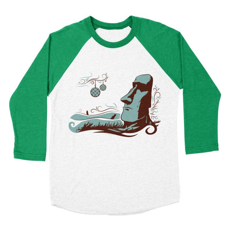 Moai Men's Baseball Triblend T-Shirt by Zerostreet's Artist Shop