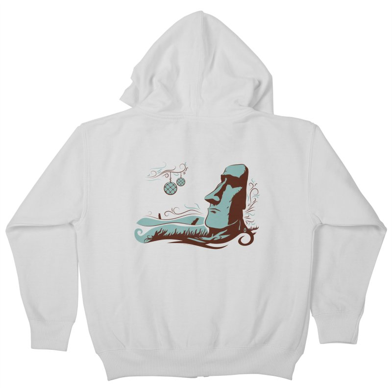 Moai Kids Zip-Up Hoody by Zerostreet's Artist Shop