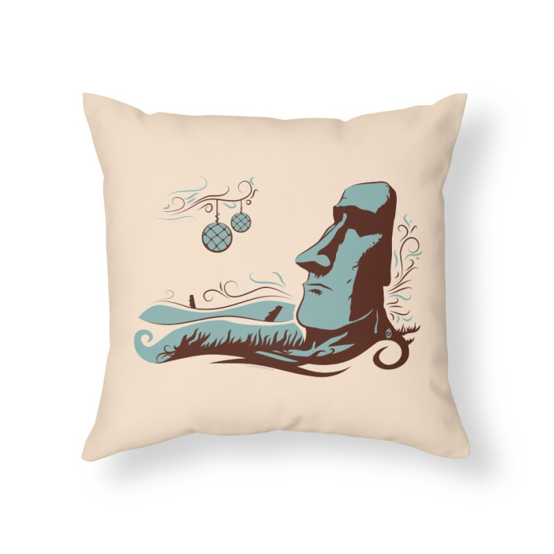Moai  Home Throw Pillow by Zerostreet's Artist Shop
