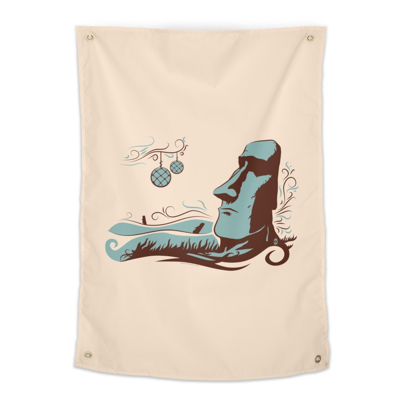 Moai  Home Tapestry by Zerostreet's Artist Shop