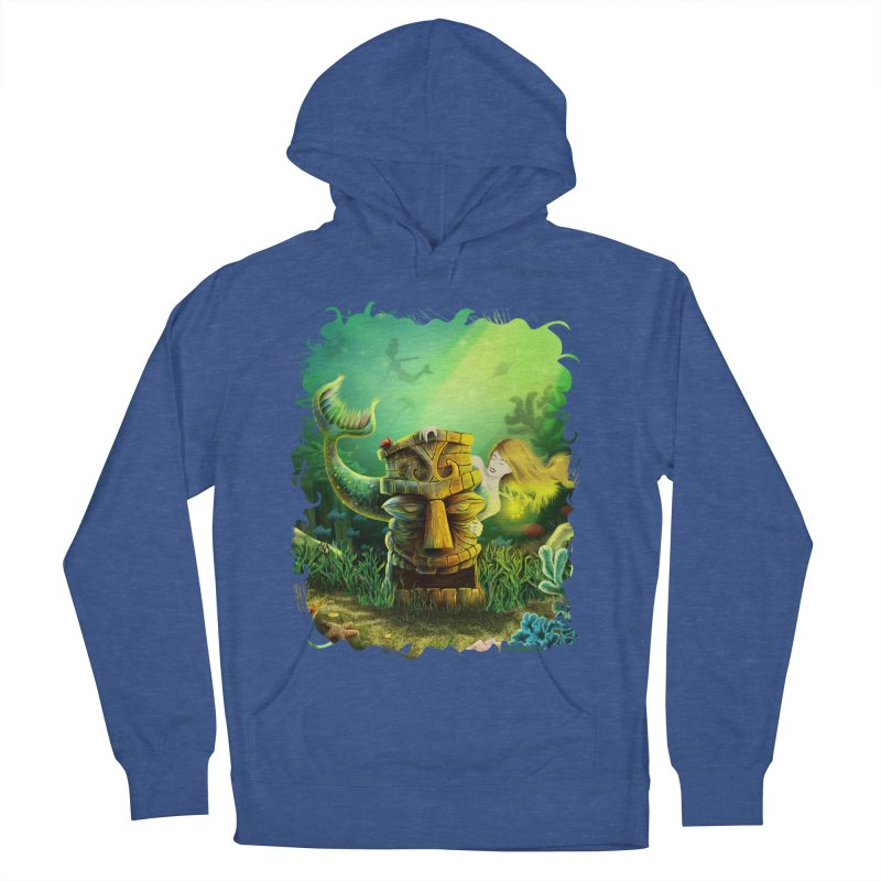 Encounter At The Cove - Tikis and Mermaids Women's French Terry Pullover Hoody by Zerostreet's Artist Shop