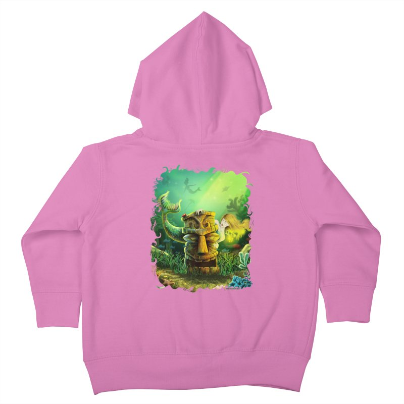 Encounter At The Cove - Tikis and Mermaids Kids Toddler Zip-Up Hoody by Zerostreet's Artist Shop