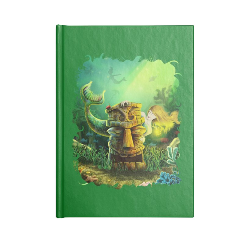 Encounter At The Cove - Tikis and Mermaids Accessories Notebook by Zerostreet's Artist Shop