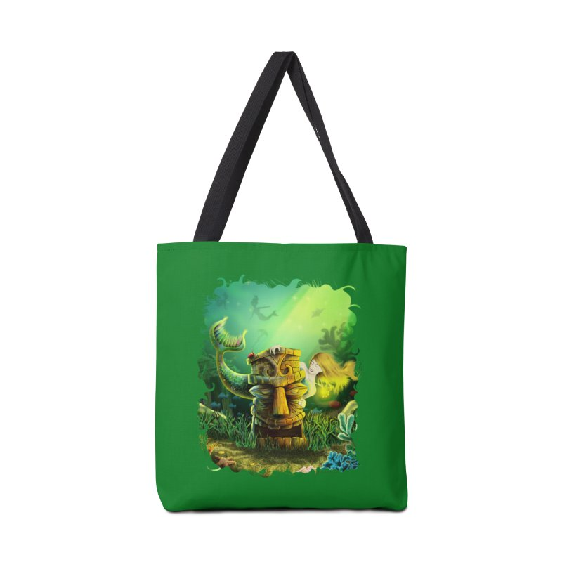 Encounter At The Cove - Tikis and Mermaids Accessories Bag by Zerostreet's Artist Shop