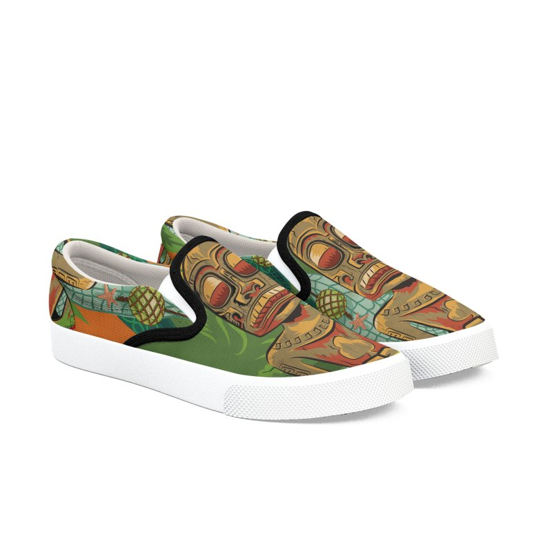 Tikilandia Jack of Clubs Men's Slip-On Shoes by Zero Street's Artist Shop