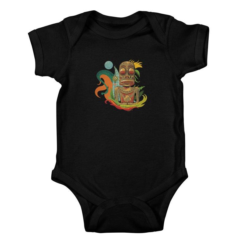 Tikilandia Jack of Clubs Kids Baby Bodysuit by Zerostreet's Artist Shop