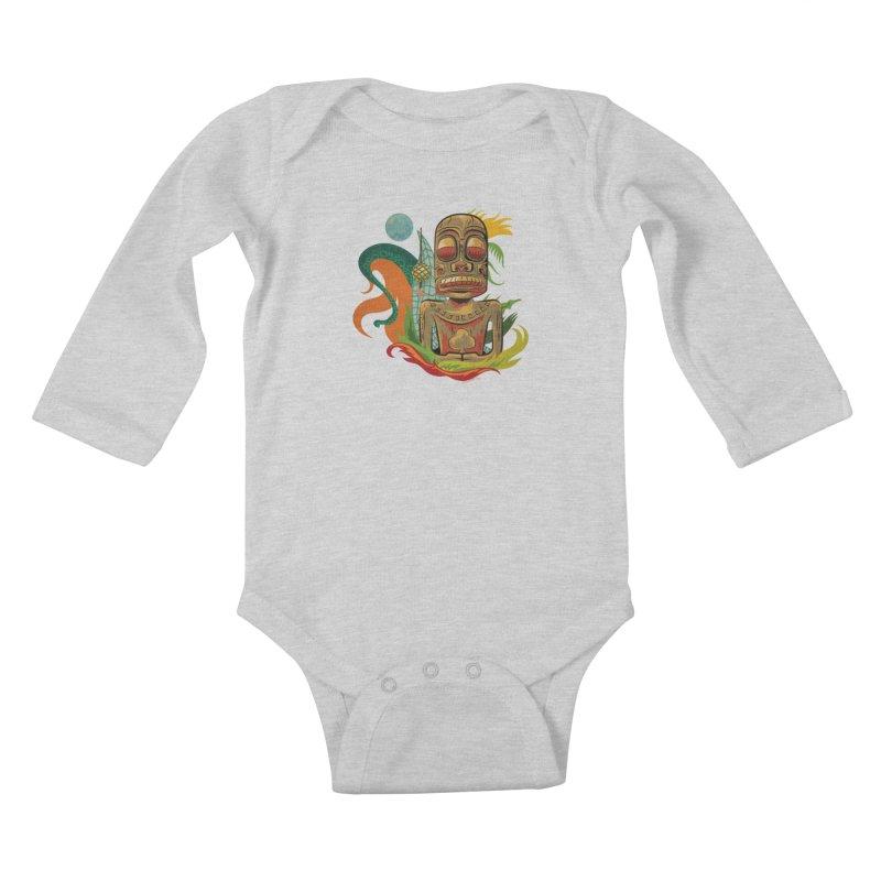 Tikilandia Jack of Clubs Kids Baby Longsleeve Bodysuit by Zerostreet's Artist Shop