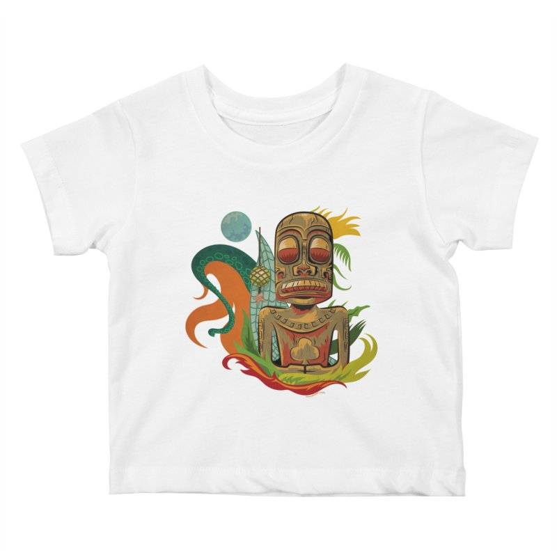 Tikilandia Jack of Clubs Kids Baby T-Shirt by Zerostreet's Artist Shop
