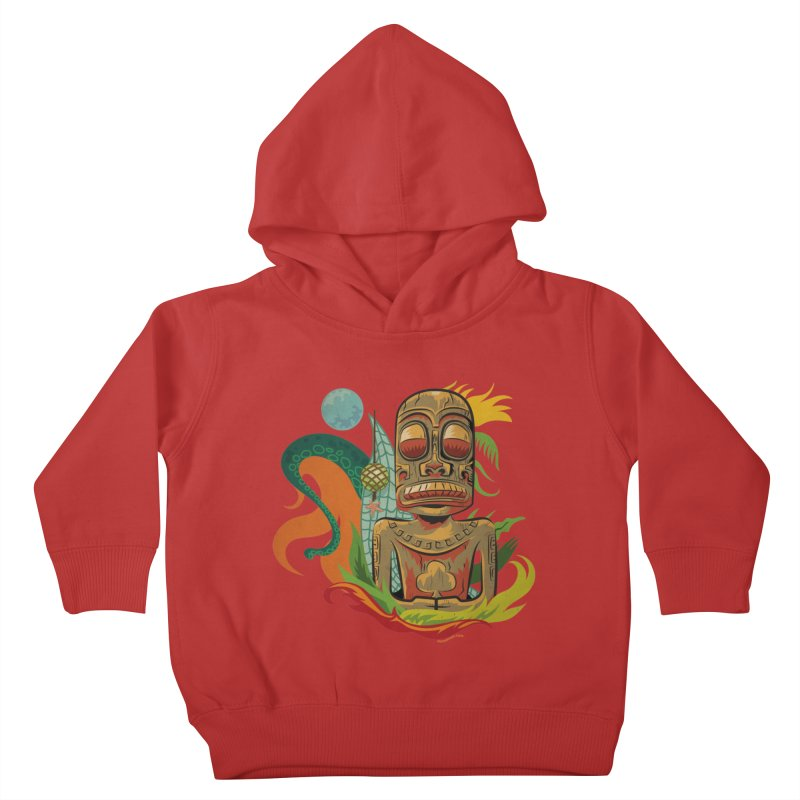Tikilandia Jack of Clubs Kids Toddler Pullover Hoody by Zerostreet's Artist Shop