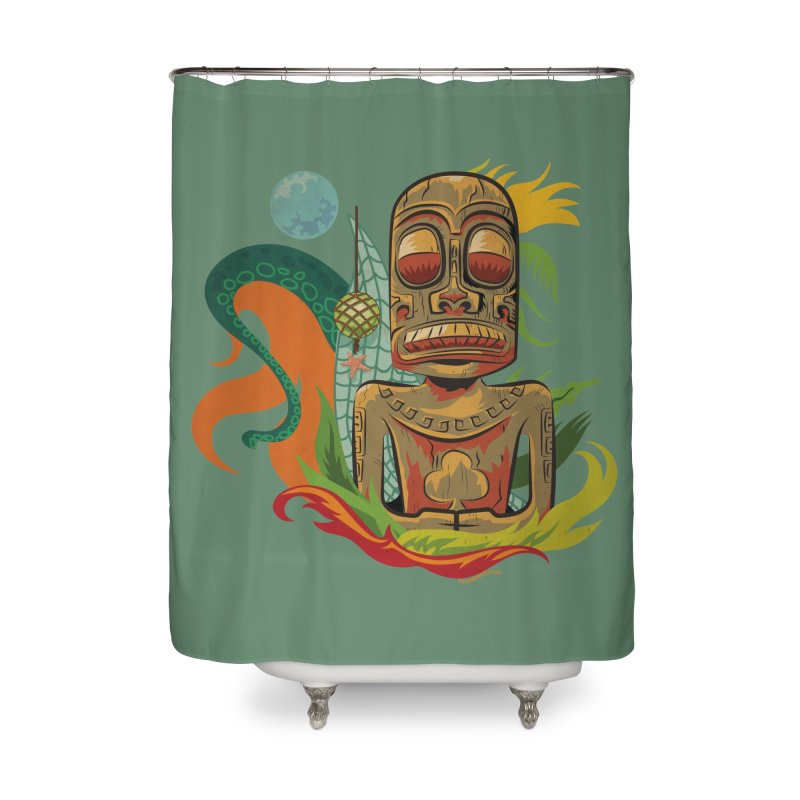Tikilandia Jack of Clubs Home Shower Curtain by Zerostreet's Artist Shop
