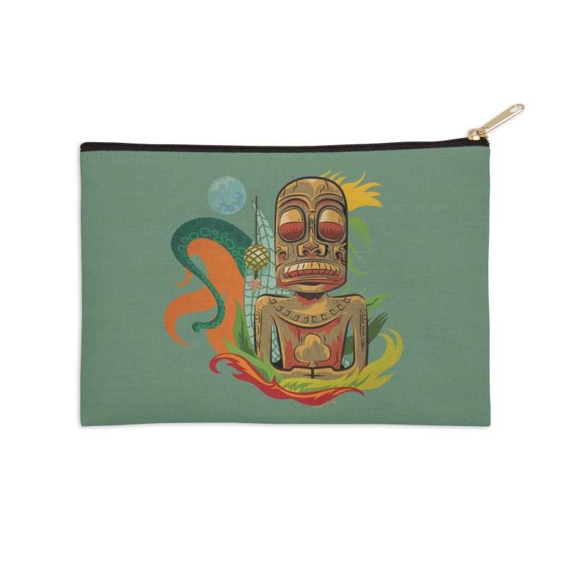 Tikilandia Jack of Clubs Accessories Zip Pouch by Zerostreet's Artist Shop