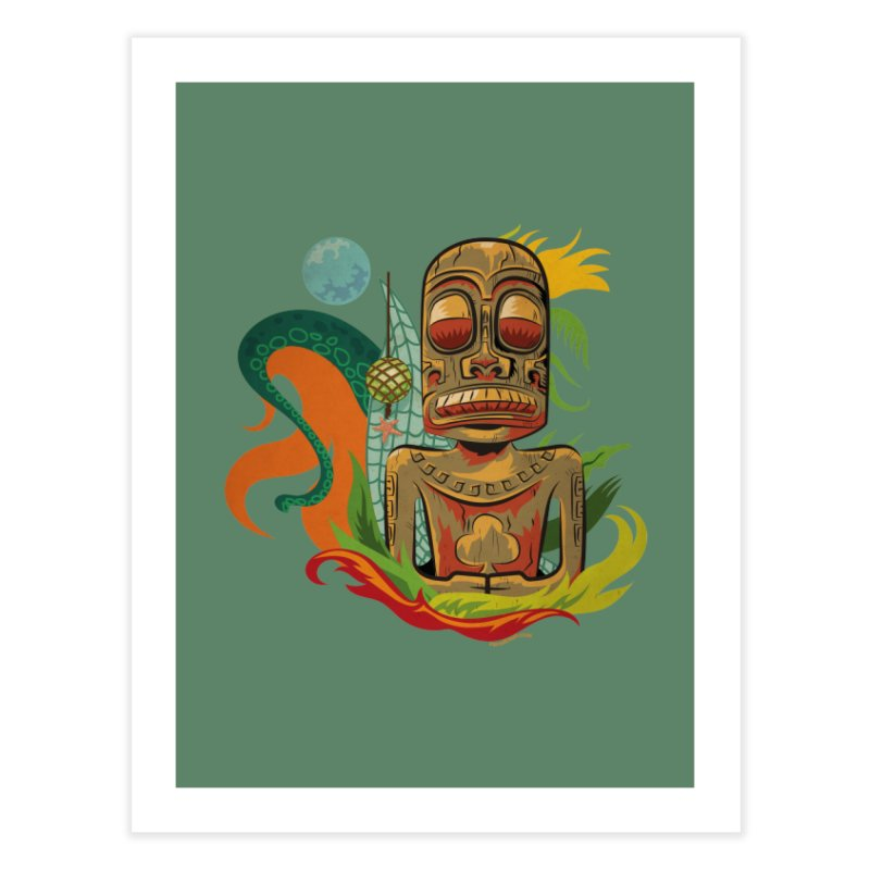 Tikilandia Jack of Clubs Home Fine Art Print by Zerostreet's Artist Shop