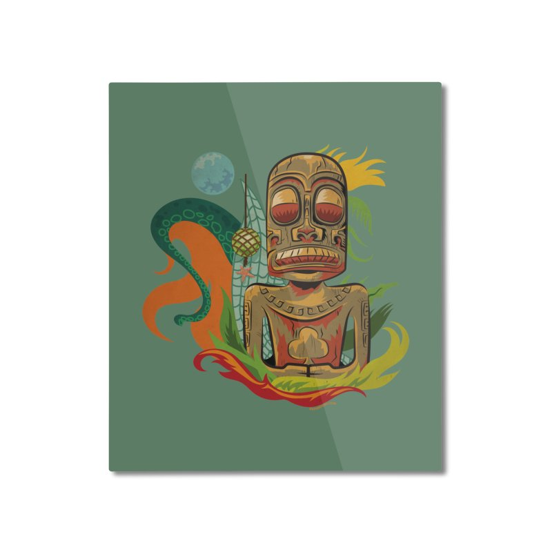 Tikilandia Jack of Clubs Home Mounted Aluminum Print by Zerostreet's Artist Shop
