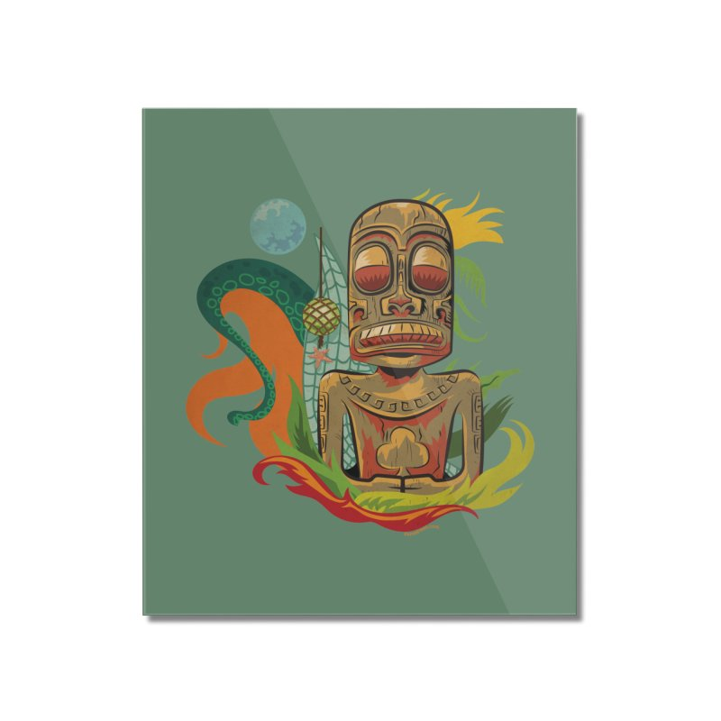 Tikilandia Jack of Clubs Home Mounted Acrylic Print by Zerostreet's Artist Shop