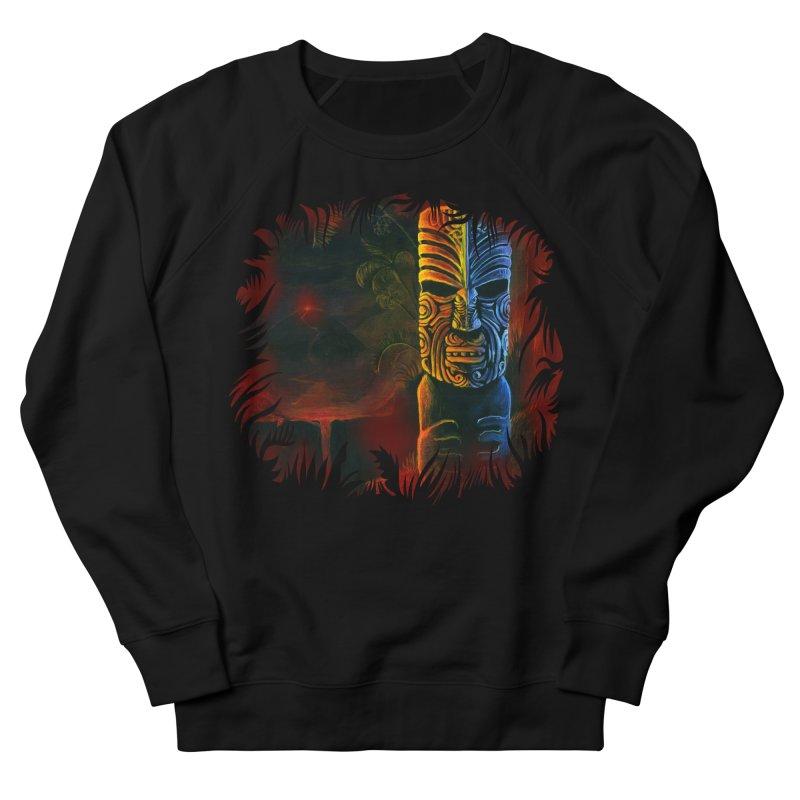 Lava Falls - Maori Tiki Women's French Terry Sweatshirt by Zerostreet's Artist Shop