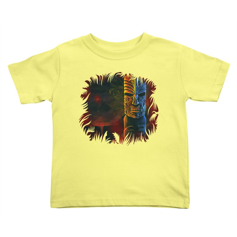 Lava Falls - Maori Tiki Kids Toddler T-Shirt by Zerostreet's Artist Shop