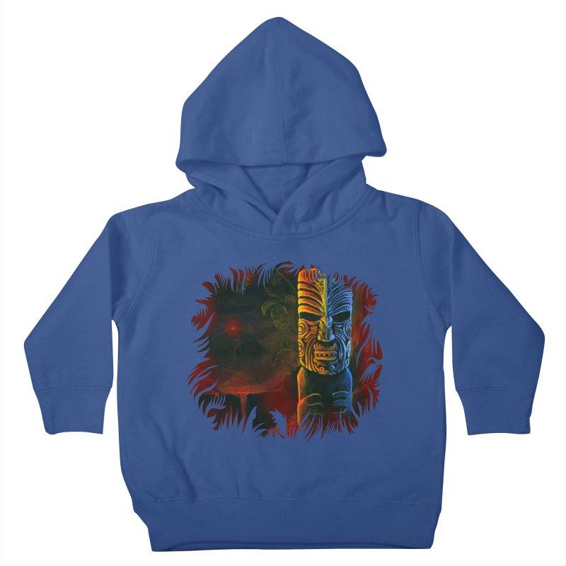 Lava Falls - Maori Tiki Kids Toddler Pullover Hoody by Zerostreet's Artist Shop