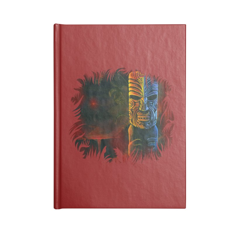 Lava Falls - Maori Tiki Accessories Notebook by Zerostreet's Artist Shop