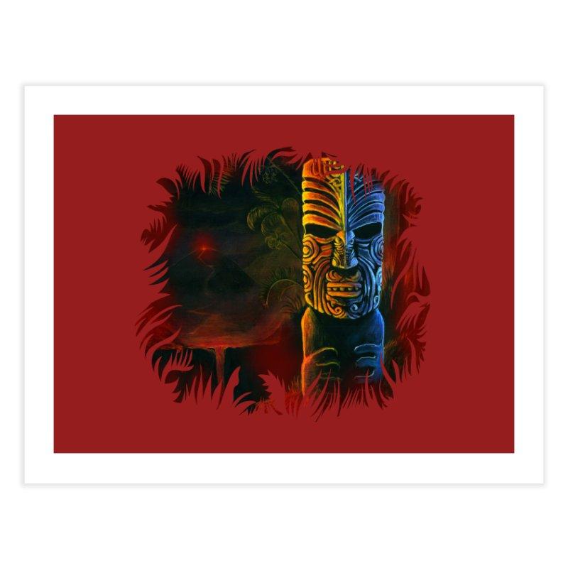 Lava Falls - Maori Tiki Home Fine Art Print by Zerostreet's Artist Shop