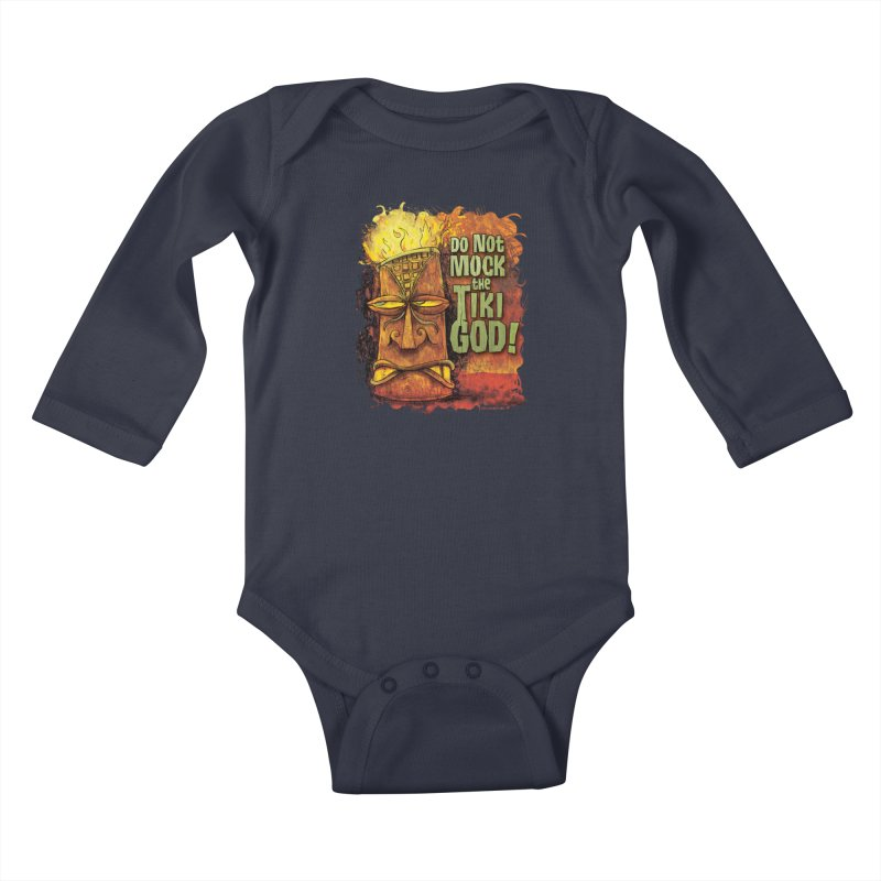 Do Not Mock The Tiki God! Kids Baby Longsleeve Bodysuit by Zerostreet's Artist Shop