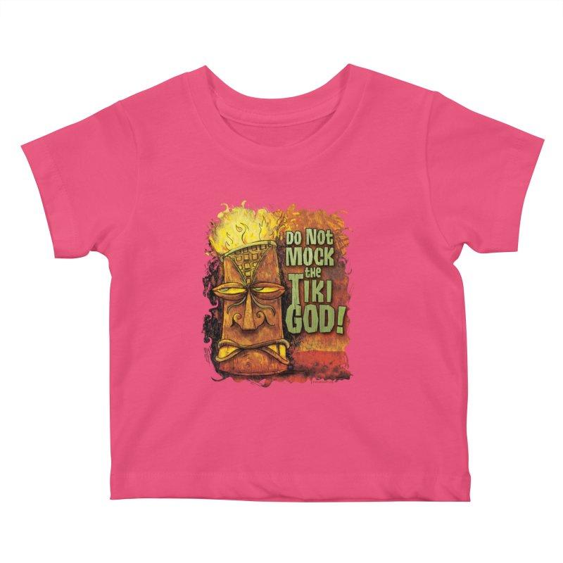 Do Not Mock The Tiki God! Kids Baby T-Shirt by Zerostreet's Artist Shop