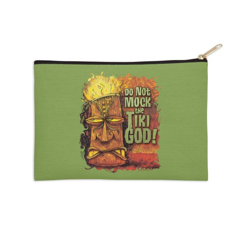 Do Not Mock The Tiki God! Accessories Zip Pouch by Zerostreet's Artist Shop