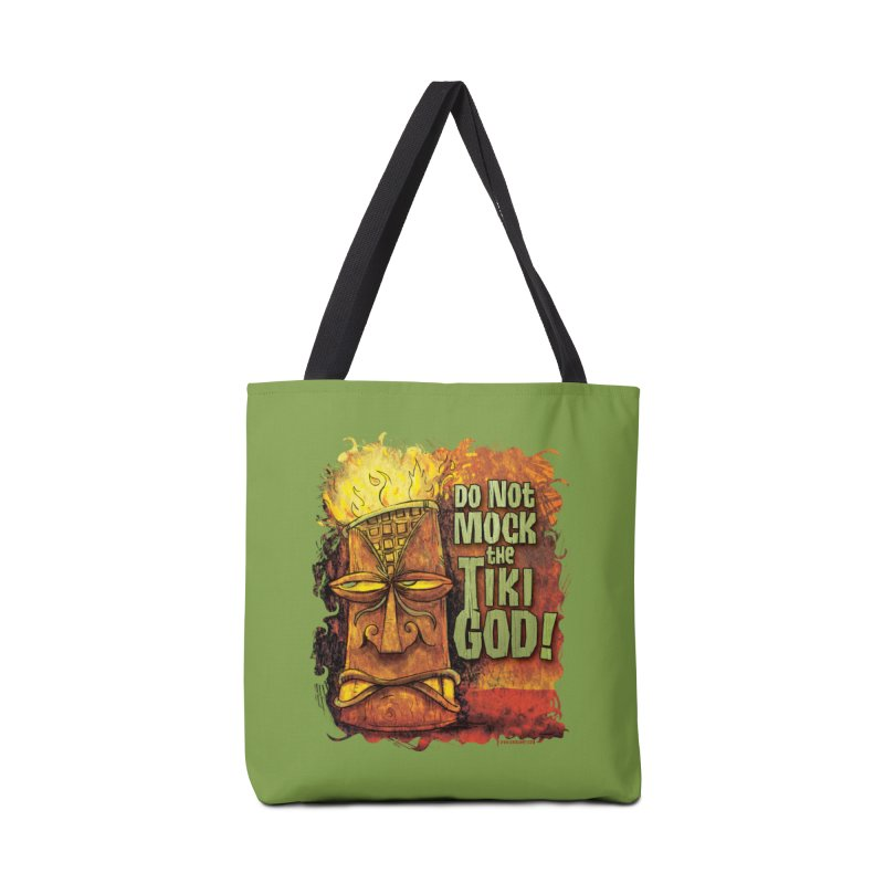 Do Not Mock The Tiki God! Accessories Bag by Zerostreet's Artist Shop
