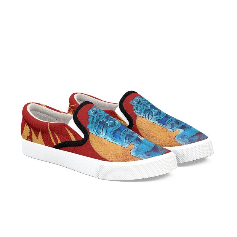 Luna Tiki Women's Slip-On Shoes by Zerostreet's Artist Shop