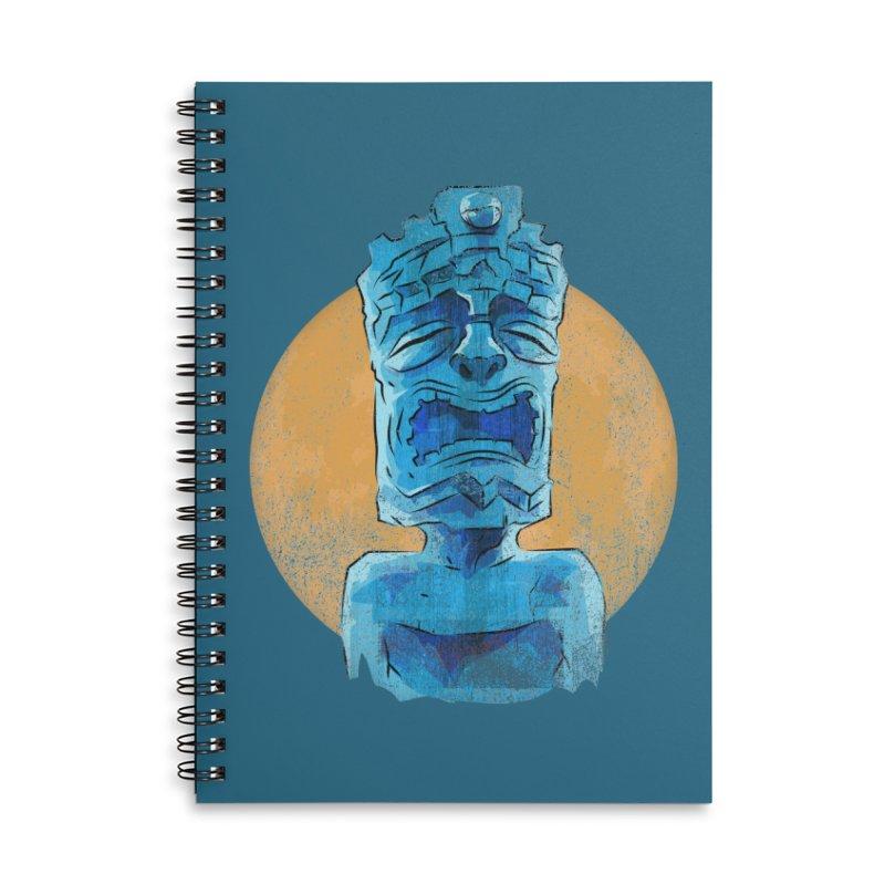 Luna Tiki Accessories Lined Spiral Notebook by Zero Street's Artist Shop