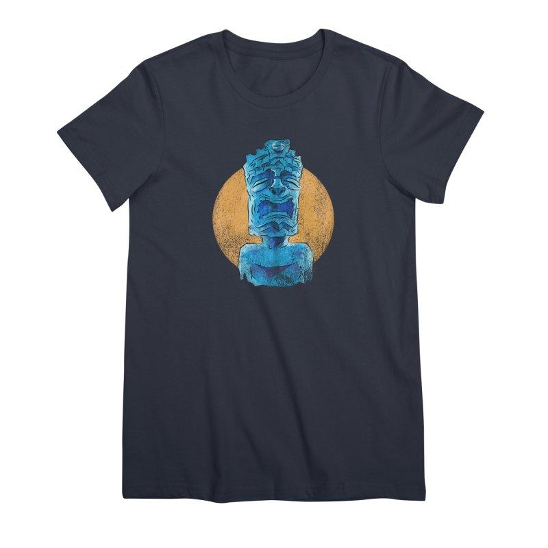 Luna Tiki Women's Premium T-Shirt by Zero Street's Artist Shop