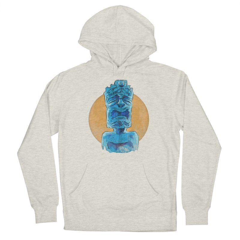 Luna Tiki Men's French Terry Pullover Hoody by Zero Street's Artist Shop