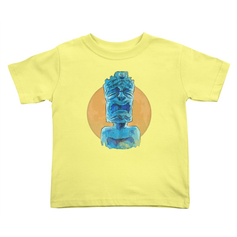Luna Tiki Kids Toddler T-Shirt by Zerostreet's Artist Shop