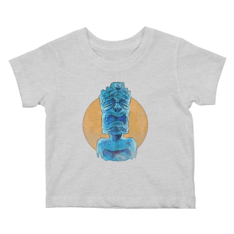 Luna Tiki Kids Baby T-Shirt by Zerostreet's Artist Shop