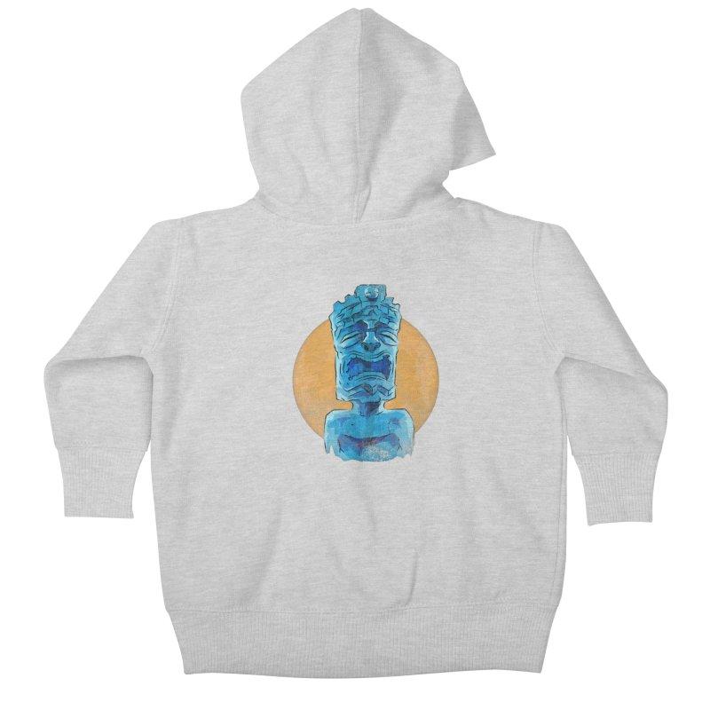Luna Tiki Kids Baby Zip-Up Hoody by Zerostreet's Artist Shop