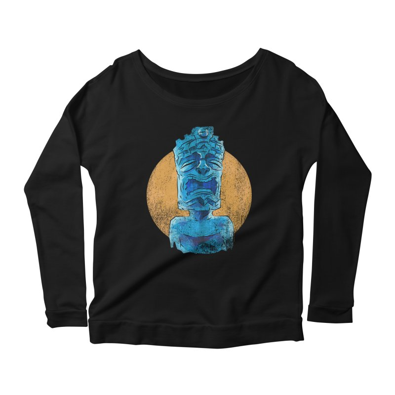 Luna Tiki Women's Scoop Neck Longsleeve T-Shirt by Zero Street's Artist Shop