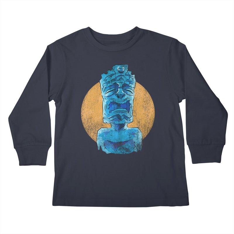 Luna Tiki Kids Longsleeve T-Shirt by Zero Street's Artist Shop