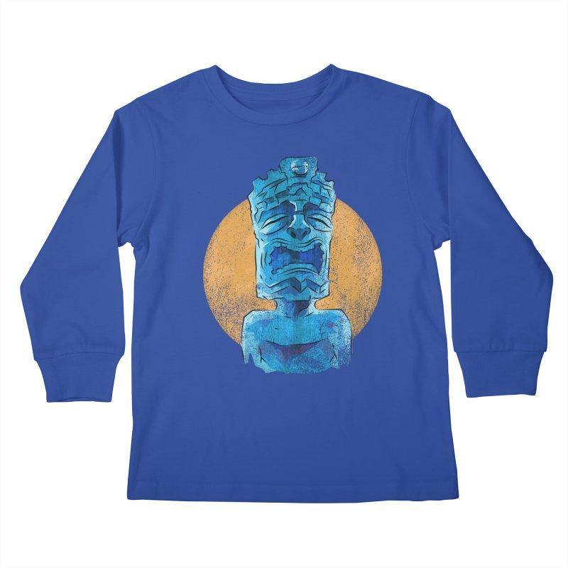 Luna Tiki Kids Longsleeve T-Shirt by Zerostreet's Artist Shop
