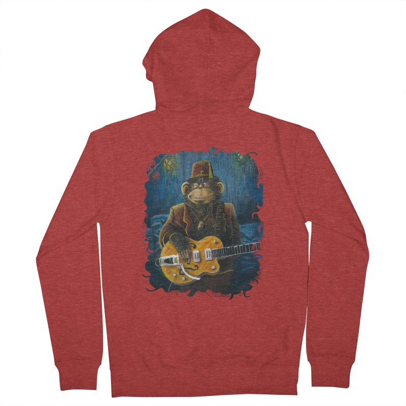 Dusty's Gig Men's French Terry Zip-Up Hoody by Zerostreet's Artist Shop