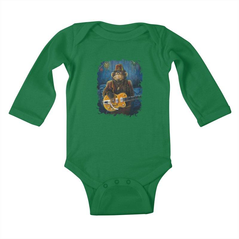 Dusty's Gig Kids Baby Longsleeve Bodysuit by Zerostreet's Artist Shop